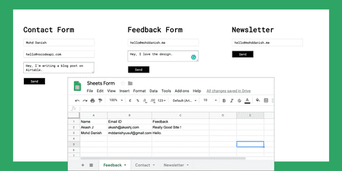 Integrate Google Sheets with your Feedback Form